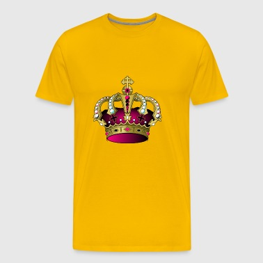 Pink Crown Diamond - Men's Premium T-Shirt