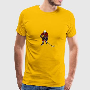 Comic female ice hockey player - Men's Premium T-Shirt