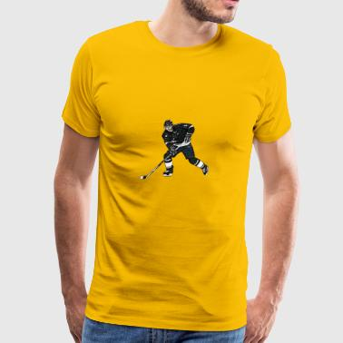 Comic ice hockey player - Men's Premium T-Shirt