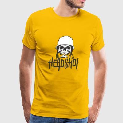 Headshot Warrior Skeleton - Men's Premium T-Shirt