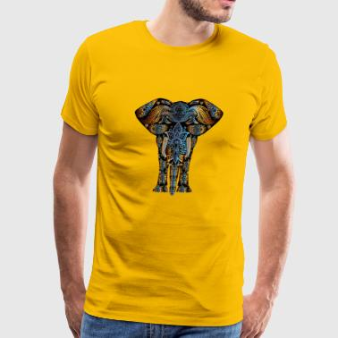 Indian Abstract Elephant - Men's Premium T-Shirt