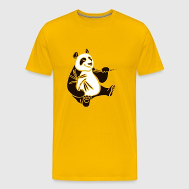 Panda bear animal wildlife cool shape vector image - Men's Premium T-Shirt