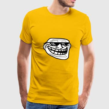 ComedyCole Trollface Only - Men's Premium T-Shirt