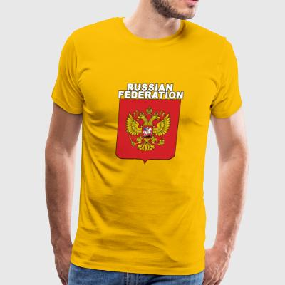 Russia National Crest Russian Expat Pride - Men's Premium T-Shirt