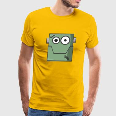 Frankenstein Halloween Cartoon Shirt - Men's Premium T-Shirt