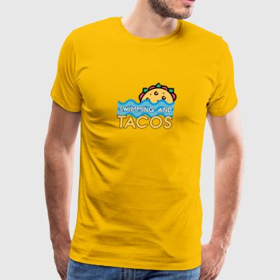 Swimming And Tacos - Men's Premium T-Shirt