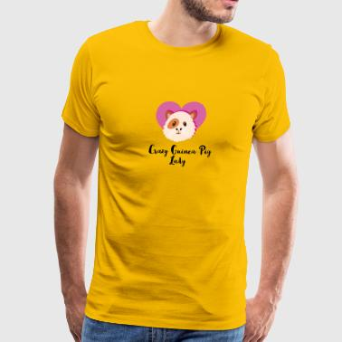 Crazy Guinea Pig Lady - Men's Premium T-Shirt