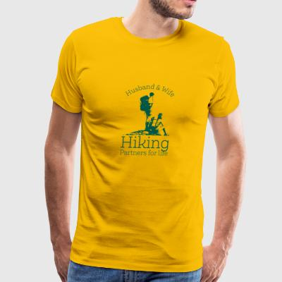 Husband And Wife Hiking Partners For Life - Men's Premium T-Shirt