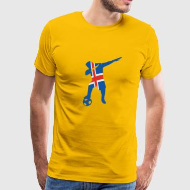 Icelandic soccer player dabbing - Men's Premium T-Shirt