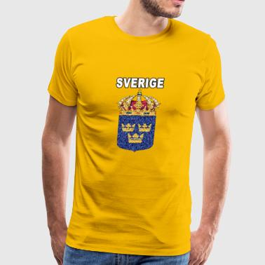 sweden swedish stained glass - Men's Premium T-Shirt