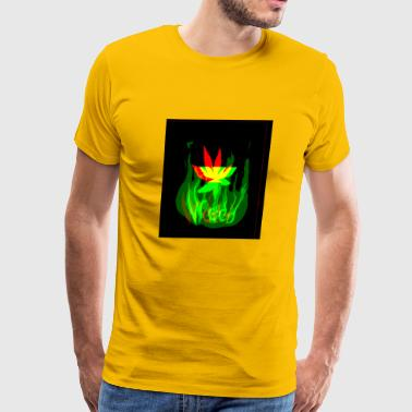 weed on fire - Men's Premium T-Shirt
