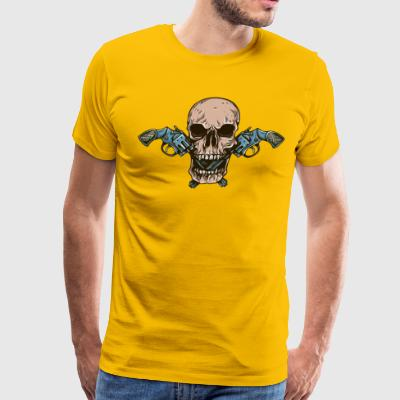 Skull with Gun - Men's Premium T-Shirt