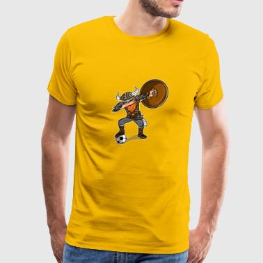 Viking Soccer Dabbing Design - Men's Premium T-Shirt