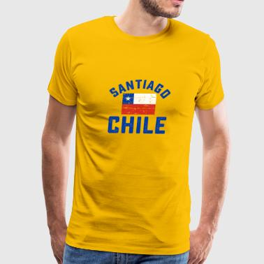 santiago city chile design - Men's Premium T-Shirt