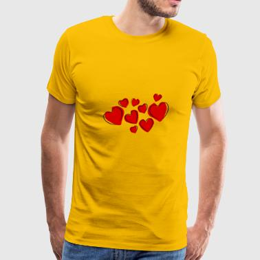 hearts 37308 960 720 - Men's Premium T-Shirt