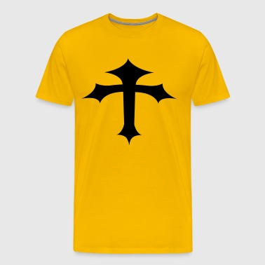gothic cross bending - Men's Premium T-Shirt