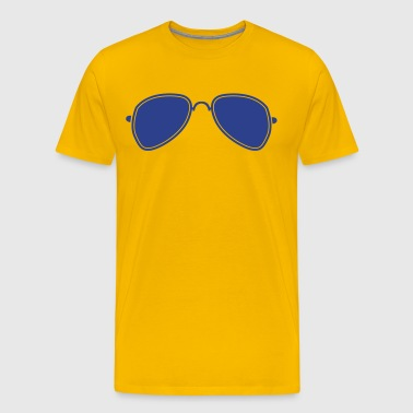 aviator glasses cool funky sunglasses - Men's Premium T-Shirt