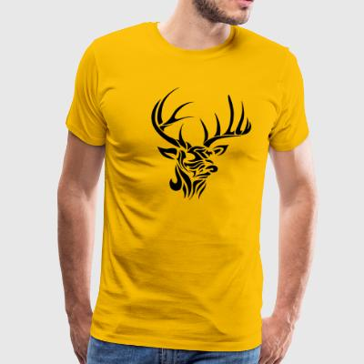 Deer Head - Men's Premium T-Shirt