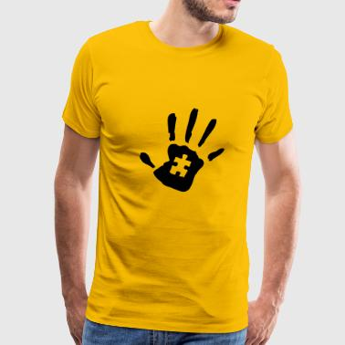 Autism Handprint - Men's Premium T-Shirt