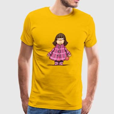 Fat girl candy cartoon vector image illustration - Men's Premium T-Shirt