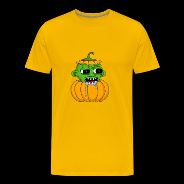 Pumpkin alien (scary) - Men's Premium T-Shirt