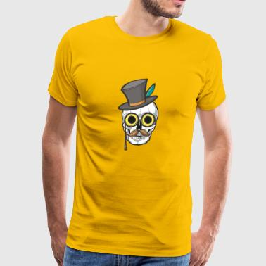 skull with mask cazy freaky cool Jester Mardi Gras - Men's Premium T-Shirt