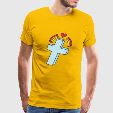 kreuz crucifix cross church kirche2 - Men's Premium T-Shirt