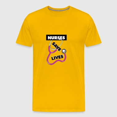 Nurses save lives pink - Men's Premium T-Shirt