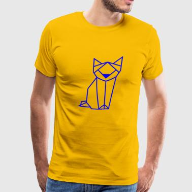 Cat Kitten Tomcat Kitties Cat Lover Present Blue - Men's Premium T-Shirt