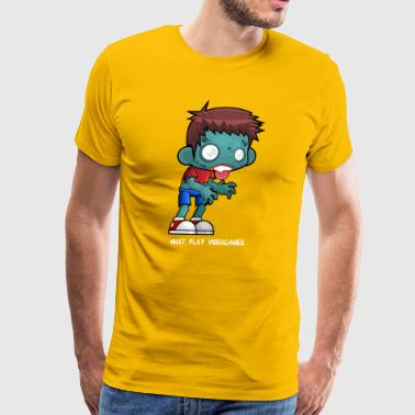 Zombie Boy loves videogames - Men's Premium T-Shirt