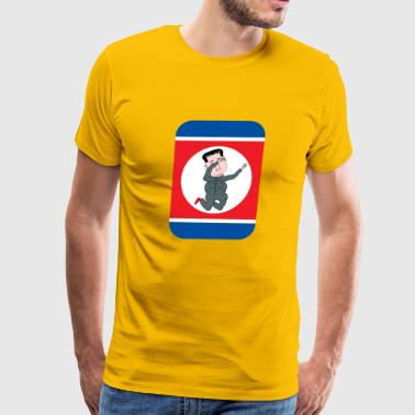 KIM JONG UN North Korea Dab - Men's Premium T-Shirt