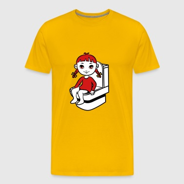 wc little girl - Men's Premium T-Shirt