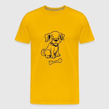 Dog baby funny bone - Men's Premium T-Shirt