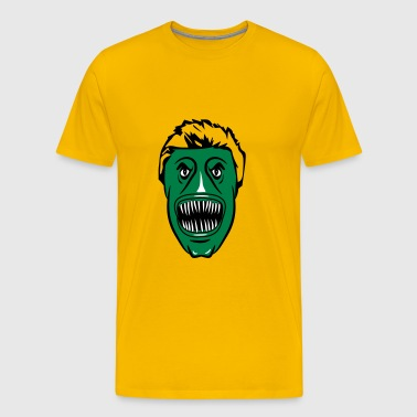 Horror face fish - Men's Premium T-Shirt