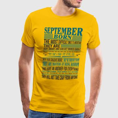 Best selling Born in September present - Men's Premium T-Shirt