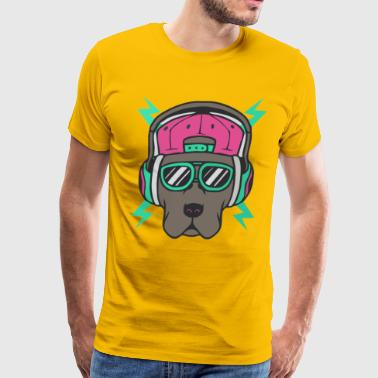 Cool Dog Funny Animal - Men's Premium T-Shirt
