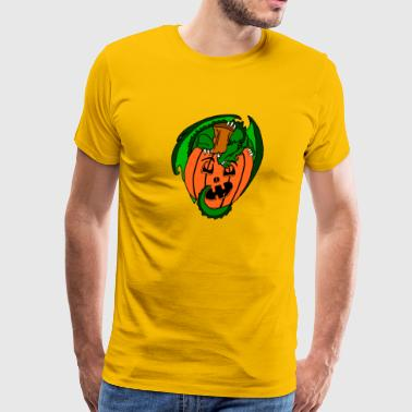 Pumpkin Dragon - Men's Premium T-Shirt