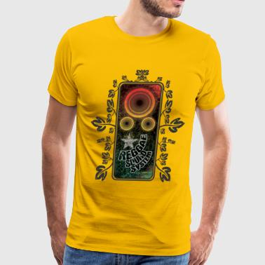 reggae soundsystem with flowers - Men's Premium T-Shirt