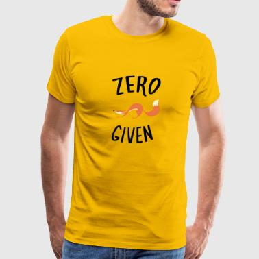 Zero Fox Given Cool - Men's Premium T-Shirt