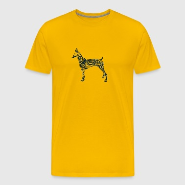Doberman Cute Dog - Men's Premium T-Shirt