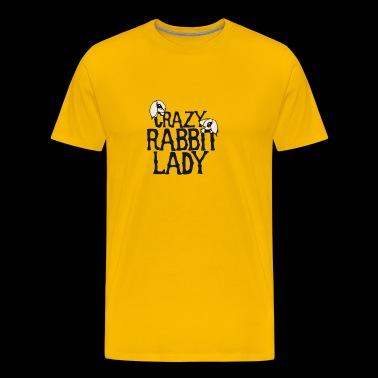 Crazy Rabbit Lady - Men's Premium T-Shirt
