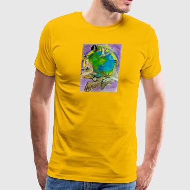 EARTH DAY IS EVERY DAY! Art: Timothy Leistner - Men's Premium T-Shirt
