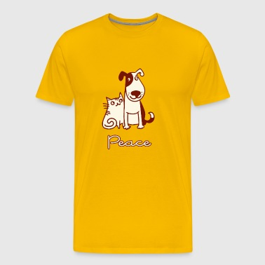Dogs, cats, peace - Men's Premium T-Shirt