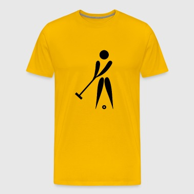 Croquet3 - Men's Premium T-Shirt