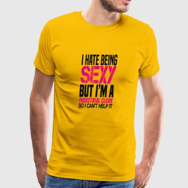 I hate being sexy - Industrial clerk gift shirt - Men's Premium T-Shirt