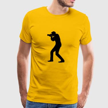 silhouette photographer - Men's Premium T-Shirt