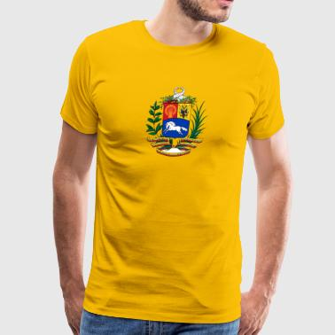 National Coat Of Arms Of Venezuela - Men's Premium T-Shirt