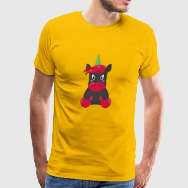angry unicorn black/red - Men's Premium T-Shirt