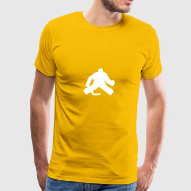 Hockey Goalie Silhouette - Men's Premium T-Shirt