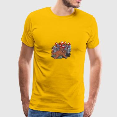 King-Kong city cartoon vector illustration image - Men's Premium T-Shirt